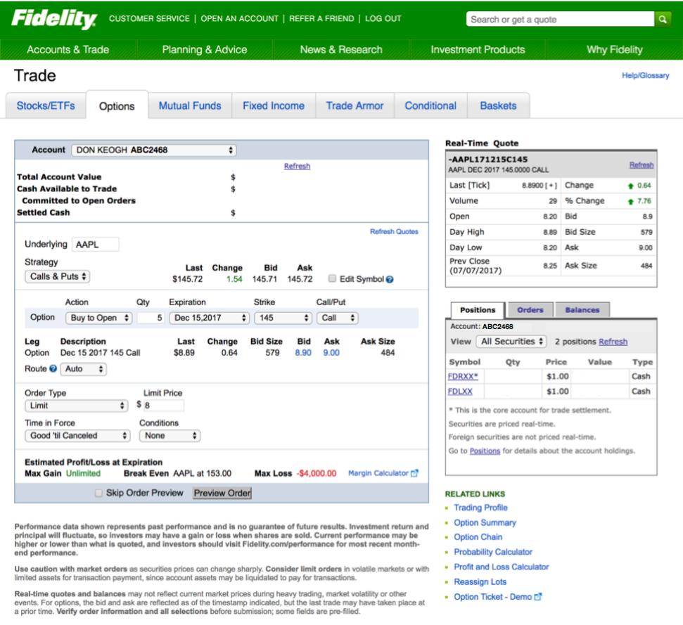 market order Fidelity tradewins daily